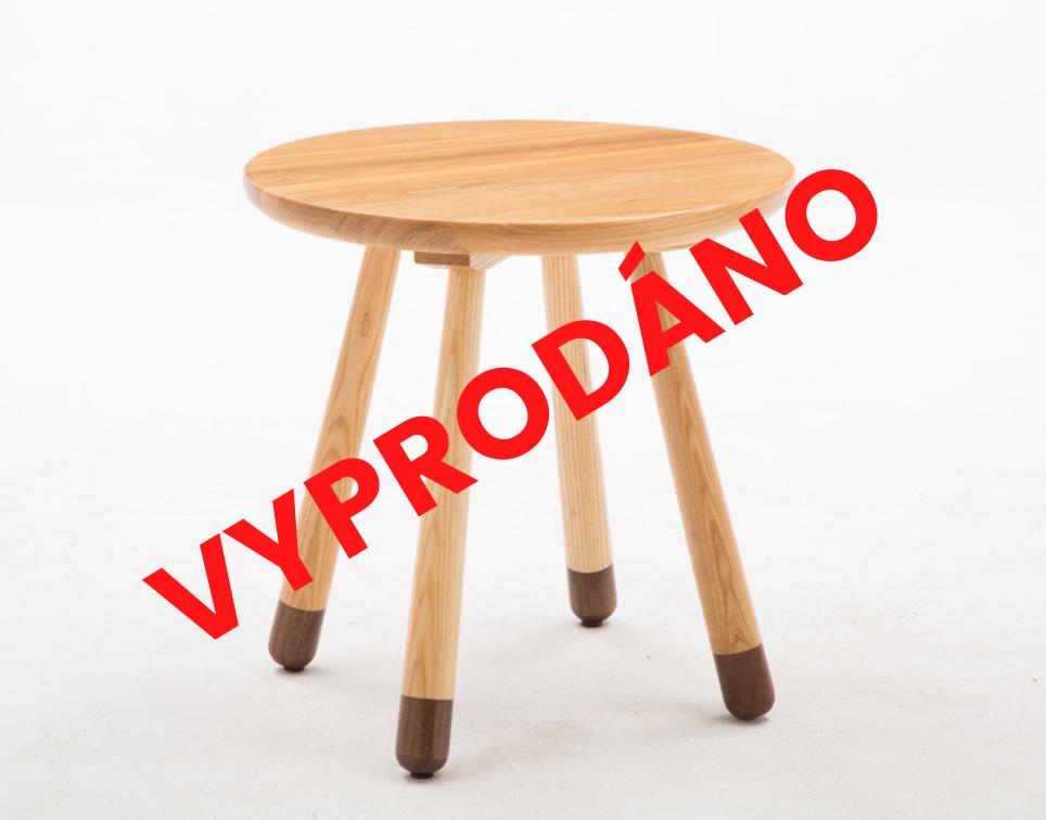 Dětsky dřevěný stolek kulatý